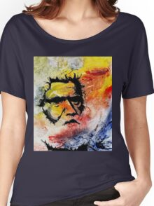 Tribal Elder - Australian Aborigine on Collagraph Nr 2 Women's Relaxed Fit T-Shirt