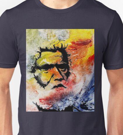 Tribal Elder - Australian Aborigine on Collagraph Nr 2 Unisex T-Shirt