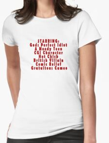 starring... Womens Fitted T-Shirt