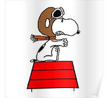 flying pilot snoopy fun Poster