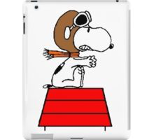 flying pilot snoopy fun iPad Case/Skin
