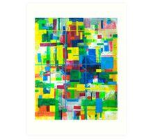 Blocks - Grid Art Print