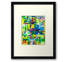 Blocks - Grid Framed Print
