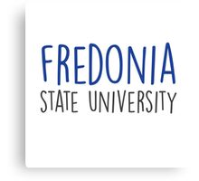 Fredonia State University - HANDWRITTEN Canvas Print