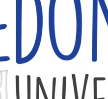 Fredonia State University - HANDWRITTEN Sticker