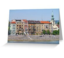 Apartments beside the Danube Greeting Card