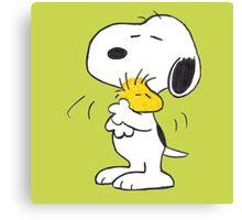 hug Peanuts Snoopy Canvas Print