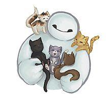 love it baymax cat Photographic Print