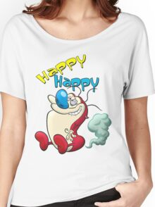Happy Happy Stimpy Gas Women's Relaxed Fit T-Shirt