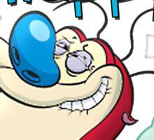 Happy Happy Stimpy Gas Sticker