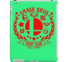 Smash Bros Fight Club funny nerd geek geeky iPad Case/Skin
