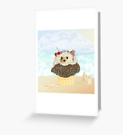 Porcupine Ice Cream Cone  Greeting Card