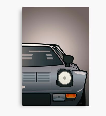 Modern Euro Icons Car Series Lancia Stratos HF Tipo 829 Split Canvas Print