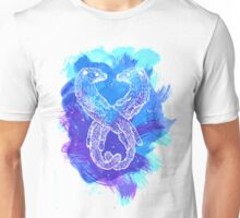 Watercolor Otters in Blue Unisex T-Shirt