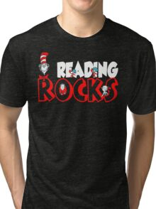 READING ROCKS - READ ACROSS AMERICA DAY Tri-blend T-Shirt