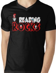 READING ROCKS - READ ACROSS AMERICA DAY Mens V-Neck T-Shirt