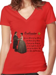 Outlander Wedding Vow Women's Fitted V-Neck T-Shirt