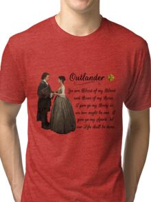 Outlander Wedding Vow Tri-blend T-Shirt