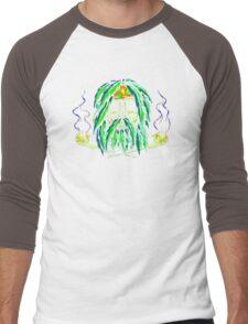 Pirate Smoke Weed Pot Marijuana Funny Men's Tshirt Men's Baseball ¾ T-Shirt