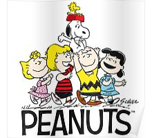 PEANUTS SNOOPY CHARLIE BROWN FRIENDS Poster
