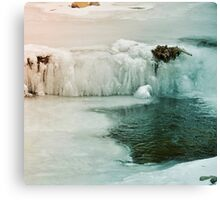 Winter Iced Waterfall Canvas Print