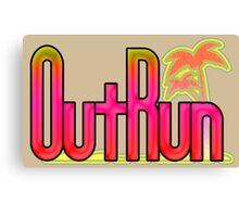 OutRun SEGA Arcade Vaporwave Logo Canvas Print