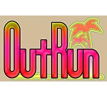 OutRun SEGA Arcade Vaporwave Logo Photographic Print
