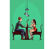 Couple in restaurant Photographic Print