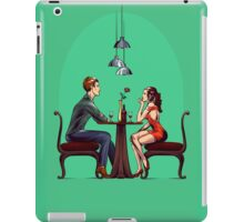 Couple in restaurant iPad Case/Skin