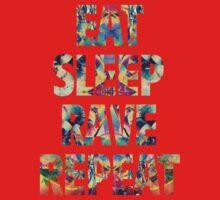 Eat Sleep Rave Repeat One Piece - Short Sleeve