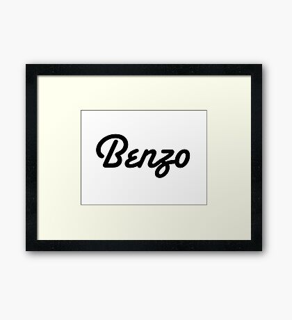 Ashley Benson Benzo Framed Print