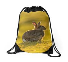 Cute Wildlife Golden Hour Drawstring Bag