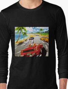 California OutRun SEGA utopian heaven arcade racer Long Sleeve T-Shirt