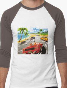 California OutRun SEGA utopian heaven arcade racer Men's Baseball ¾ T-Shirt
