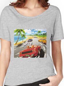 California OutRun SEGA utopian heaven arcade racer Women's Relaxed Fit T-Shirt