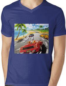 California OutRun SEGA utopian heaven arcade racer Mens V-Neck T-Shirt