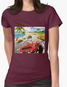 California OutRun SEGA utopian heaven arcade racer Womens Fitted T-Shirt