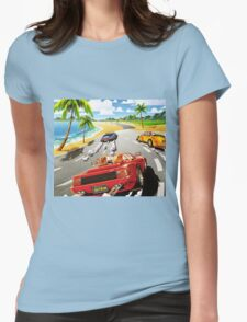 California OutRun SEGA utopian heaven arcade racer Womens Fitted T-Shirt