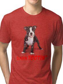 Boston Terrier Puppy - Darn Tootin' Tri-blend T-Shirt