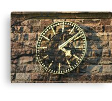 One Face of the Clock of Tarvin Church, Cheshire Canvas Print