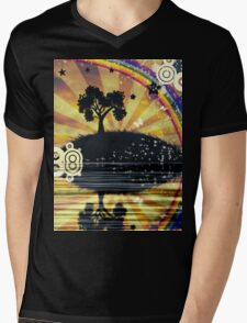 Lonely Tree at Sunset Mens V-Neck T-Shirt