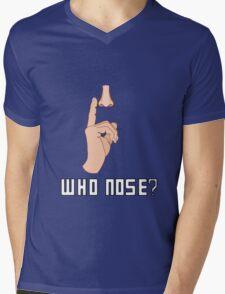 Doctor Who - Who Nose?  Mens V-Neck T-Shirt