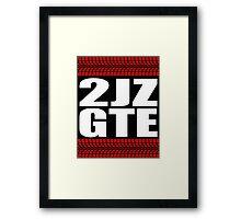 2JZ GTE tread sticker Framed Print