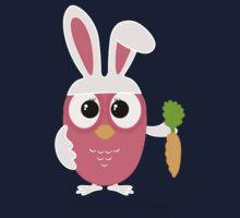 Cute pink little owl with bunny ears. Kids Tee