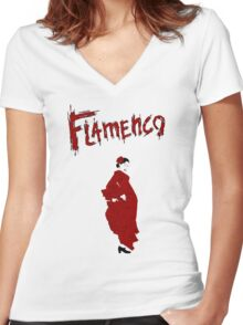 Flamenco Women's Fitted V-Neck T-Shirt