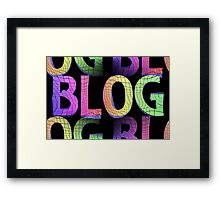 blog background Framed Print