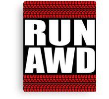 RUN AWD sticker Canvas Print