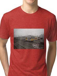 Graffiti Shirt / PheverOne The Green Line Train Yard T-Shirt Tri-blend T-Shirt