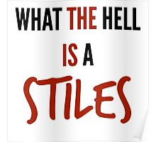 teen wolf - what the hell is a stiles? Poster