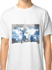 Blue ocean world map Classic T-Shirt